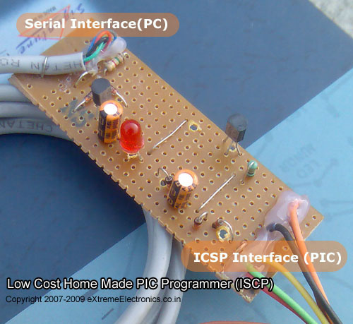 serial port based icsp