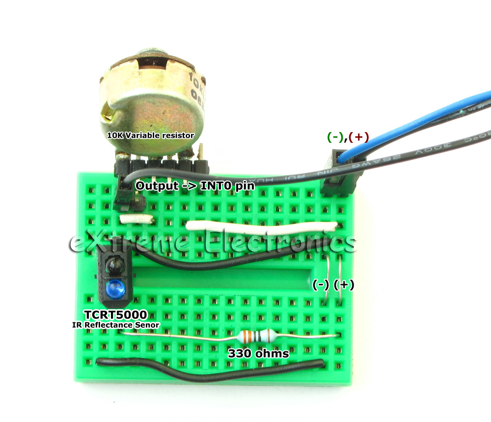 Avr Project Atmega8 Based Rpm Meter Extreme Electronics Hall Effect Sensor Pic8051avr Usb Programmerdevelopment Boards Tcrt5000 Reflectance