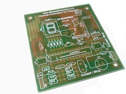 remote controlled fan regulator pcb