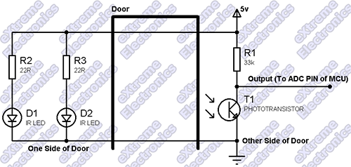 Door Entry Detection Schematic