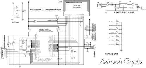 GLCD Development Board Schematic