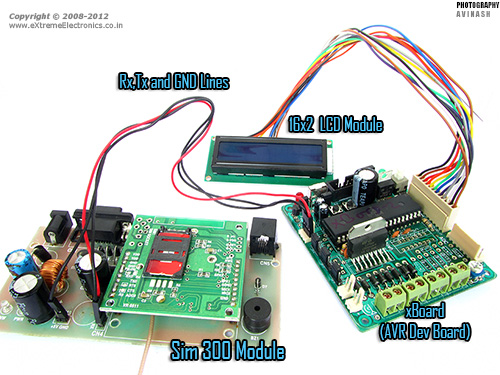 avr gsm module interface