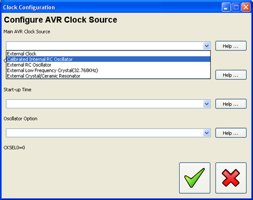 avr clock configure