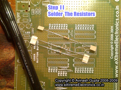 making atmel avr development board circuit