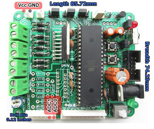 xboard adc and supply pins