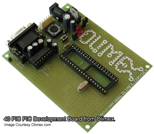 40 PIN PIC Development Board from Olimex