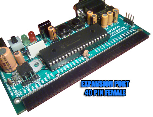 pic microcontroller development board expansion slot