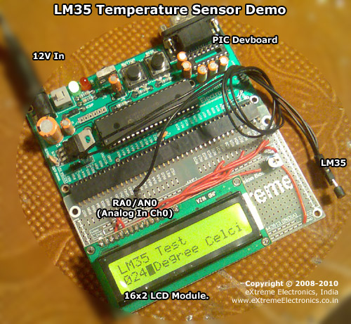 LM35 Temperature Sensor Demo