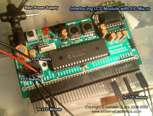 LCD Module Interface with PIC Microcontroller