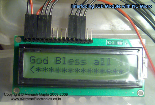 Interfacing LCD Modules with PIC Microcontrollers