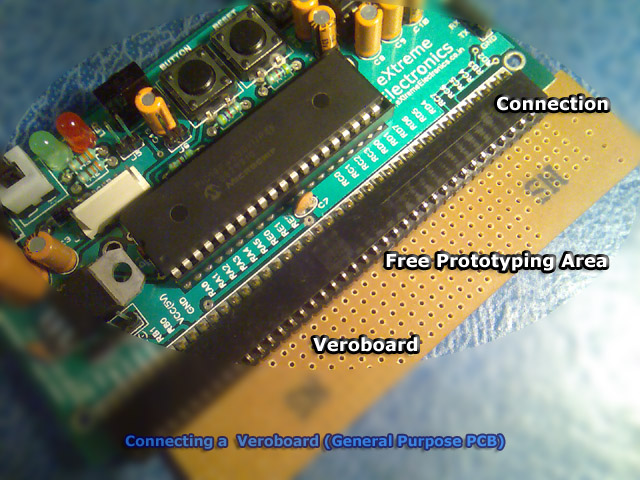 pic microcontroller development board with veroboard