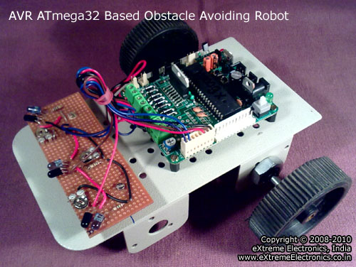 avr atmega32 based obstacle avoiding robot tutorial
